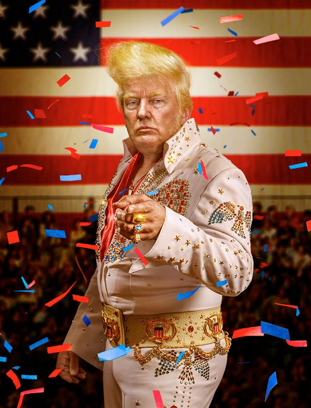 Ignác Říha | Trump & Roll Baby | Reflex magazine's front cover. Reality tycoon and gold lover Donald Trump managed to beat his rival candidate Hillary Clinton in 2016 US presidential elections. At 70 he became then 45th president of the United states